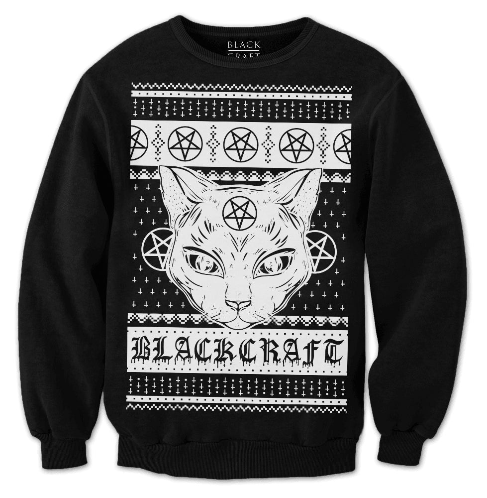 Satanic Christmas Sweater.Sweaters Blackcraft Cult