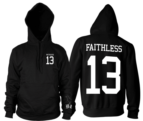 Faithless Crow - Hooded Pullover Sweater