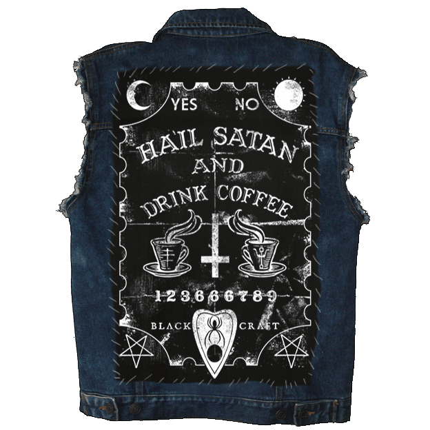 Hail Satan And Drink Coffee - Back Patch