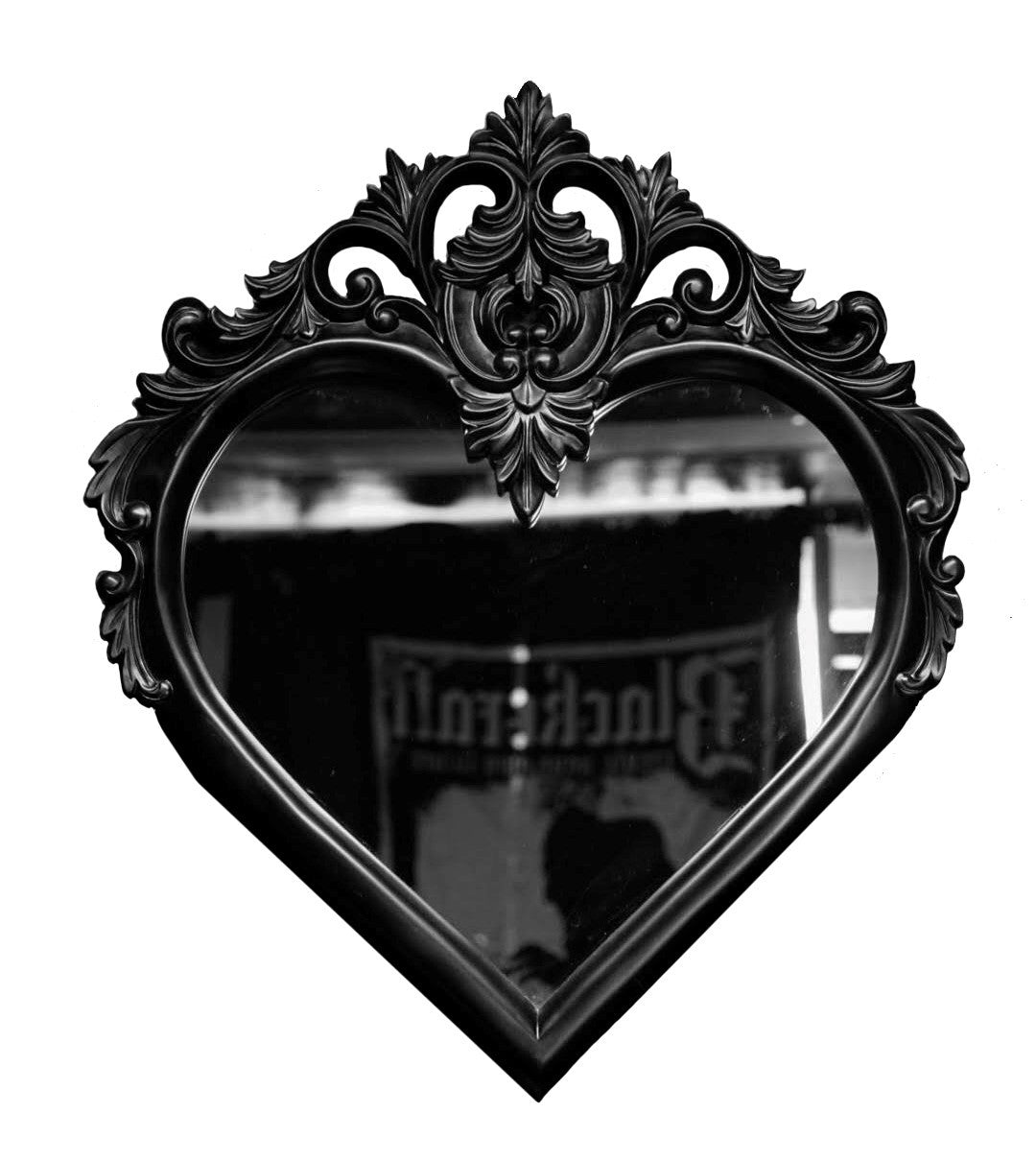 Heart Mirror- Black