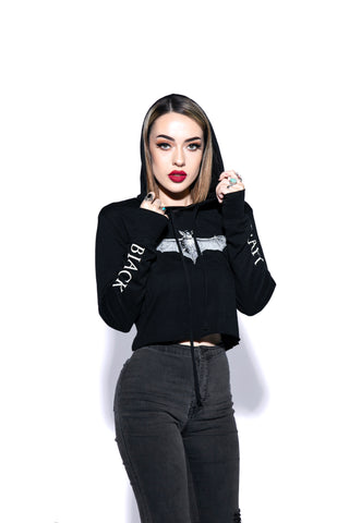 Batcraft - Women's Lightweight Cropped Hoodie
