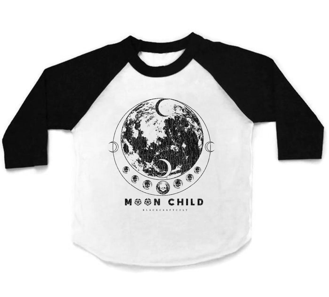 Moon Phase - Child's Baseball Tee