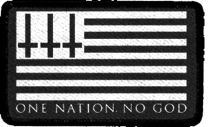 2ecf01e9 One Nation No God - Embroidered Patch – Blackcraft Cult