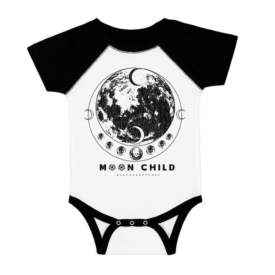Moon Phase - Baby Baseball Onesie