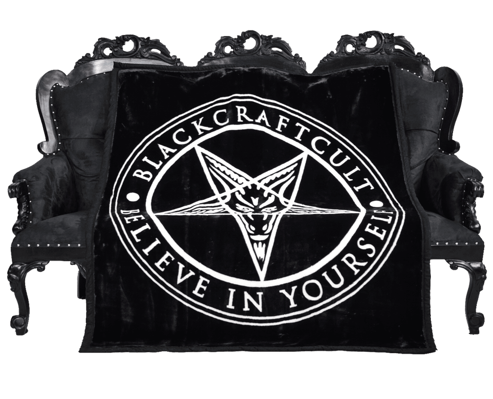 Pentagram Blanket - Moonlight Black