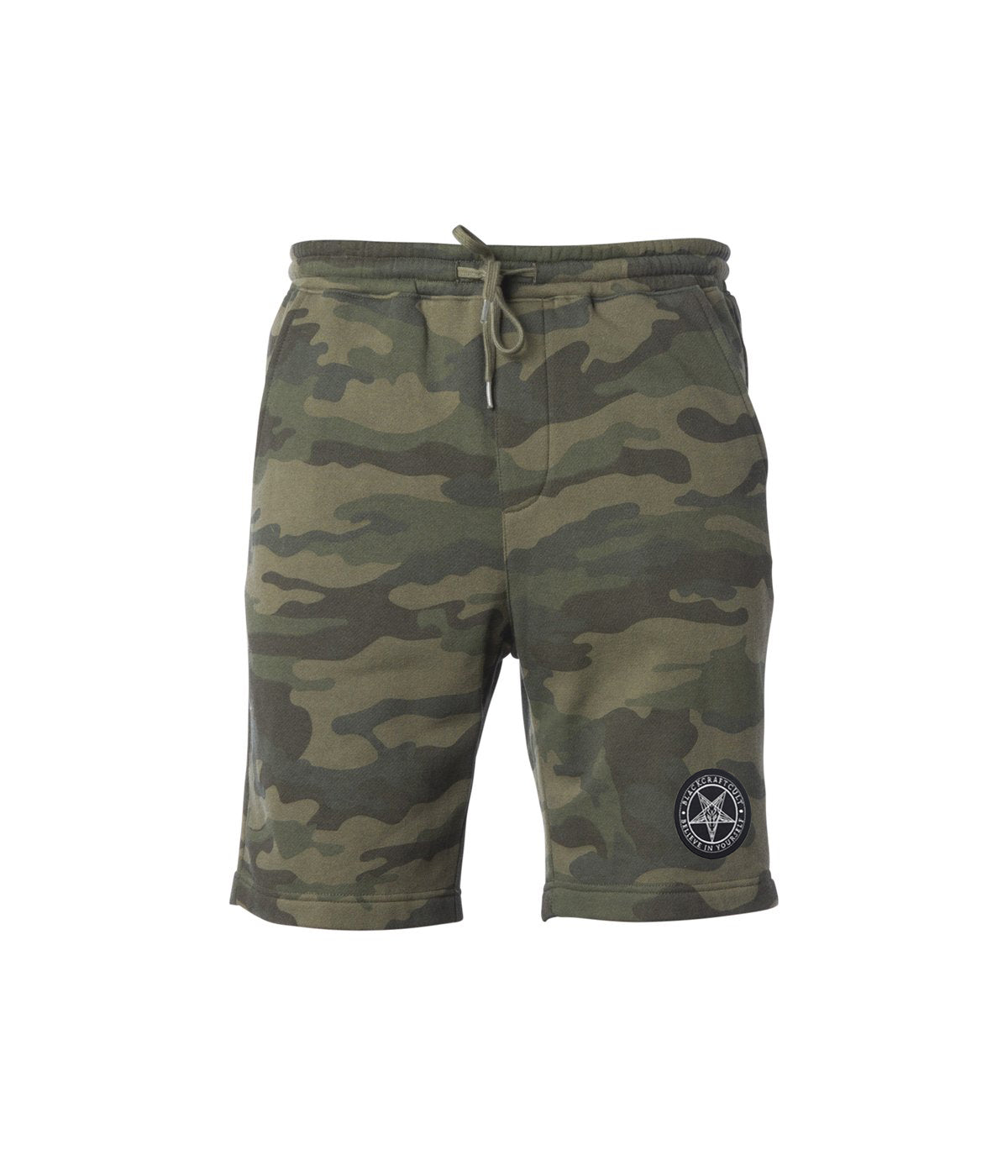 Believe In Yourself Camo Sweat Shorts