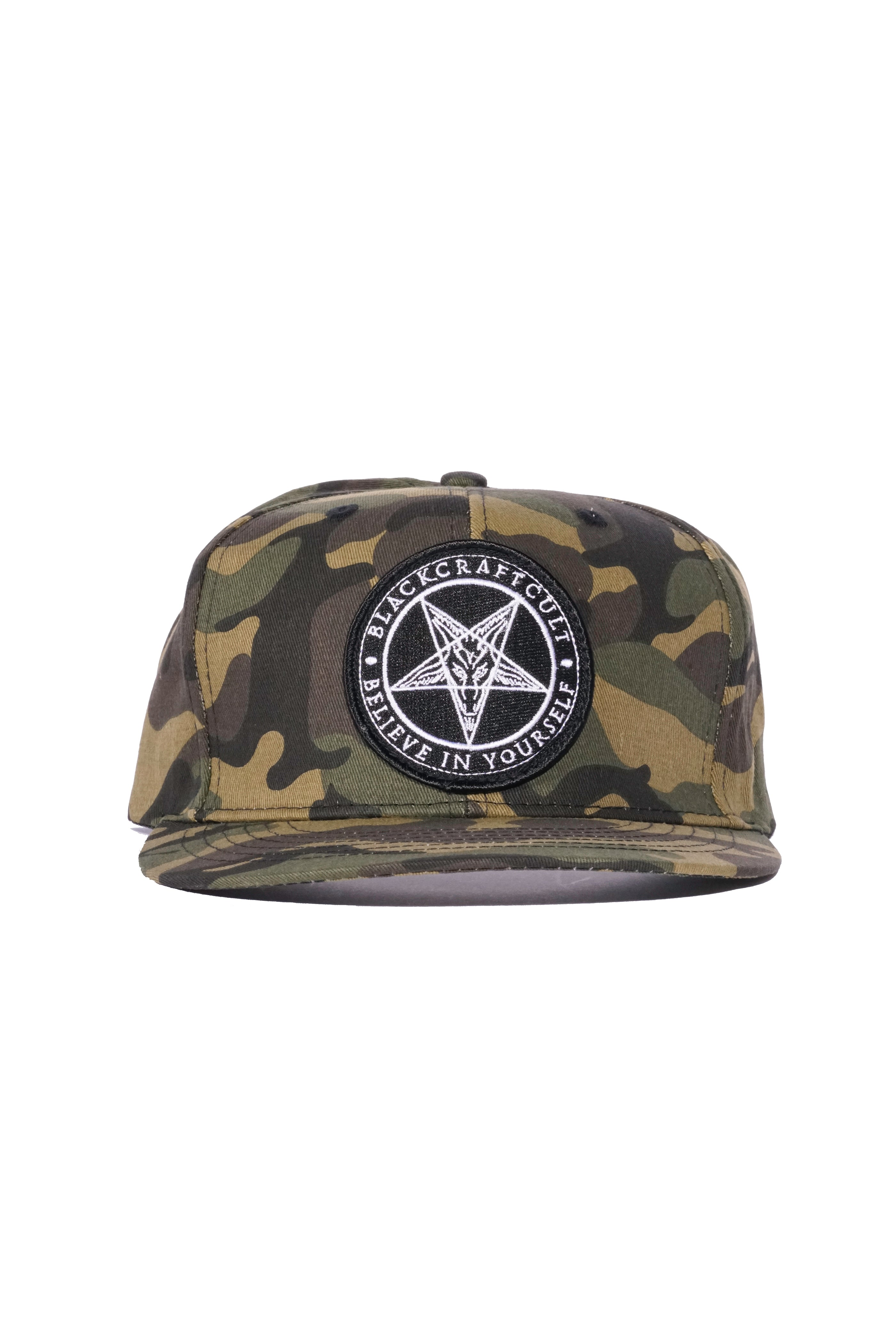 636d0f6ff61 Believe In Yourself - Camo Snapback Hat – Blackcraft Cult