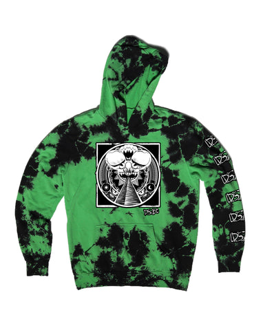 Ancient Mau5 - Green Lightning Dye Hooded Pullover