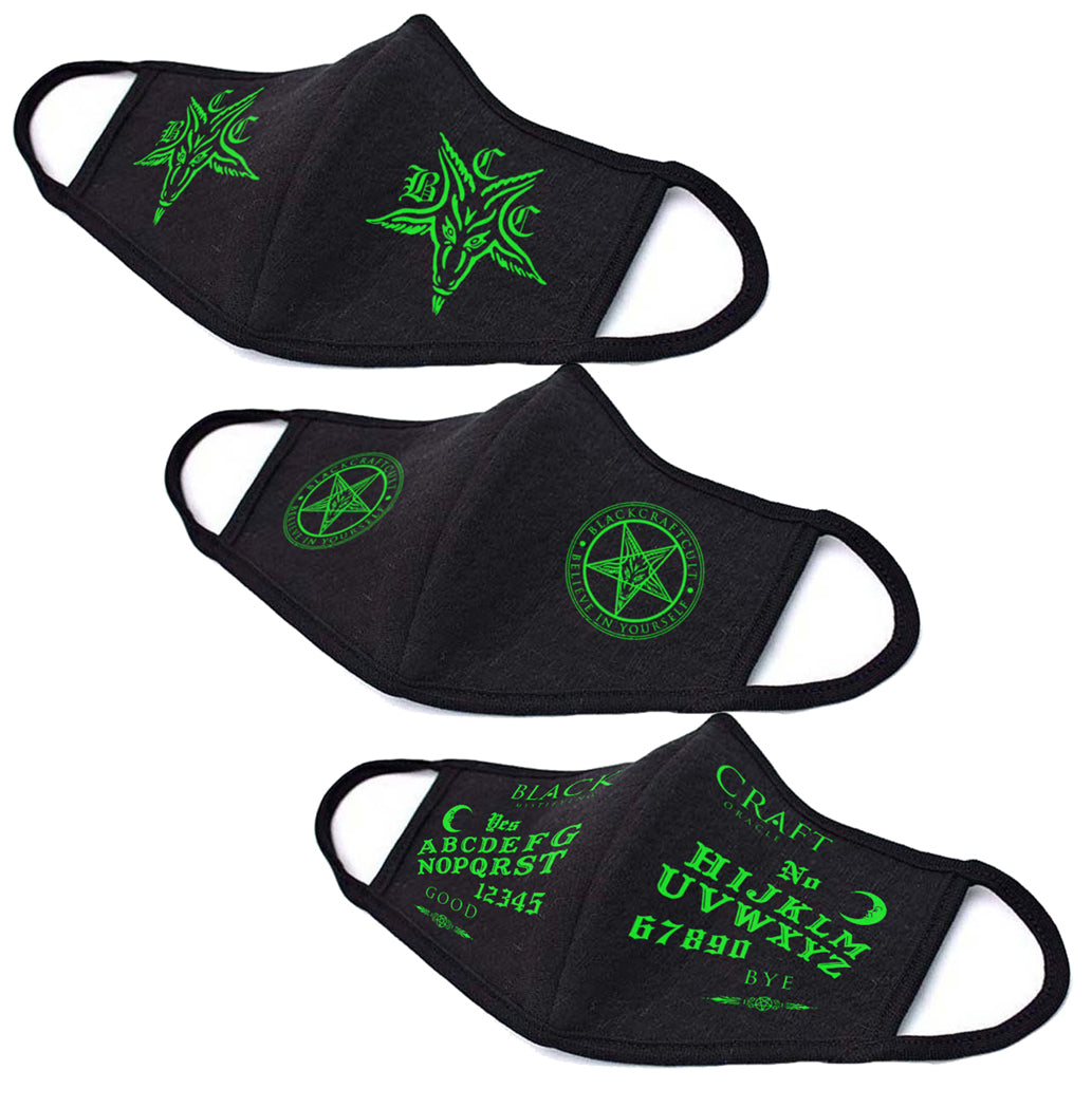 Blackcraft Green Face Mask Collection