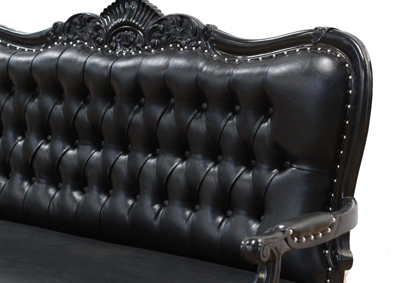 Four Seater King Sofa- Black