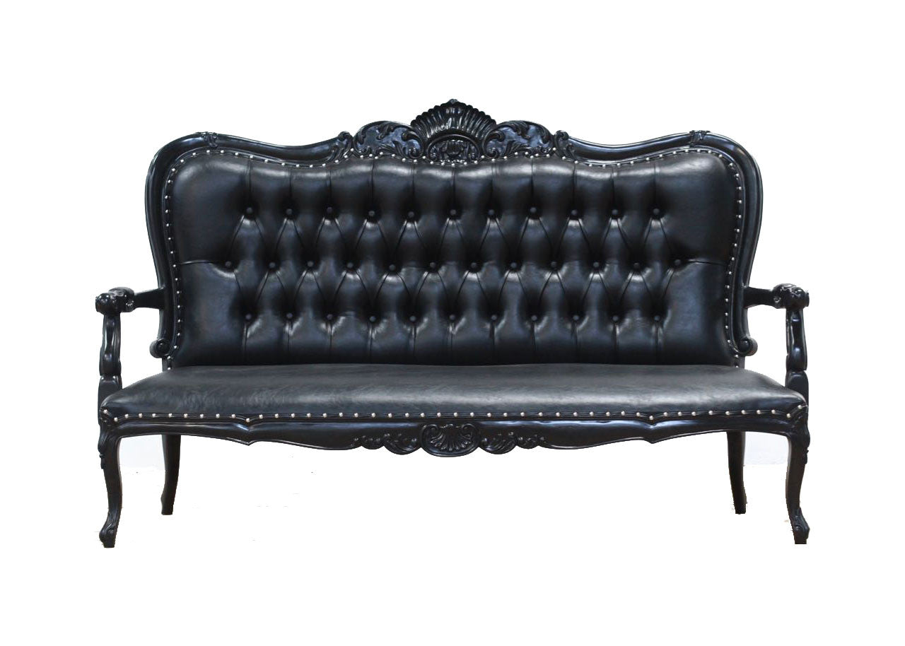 Four Seater King Sofa Black – Blackcraft Cult
