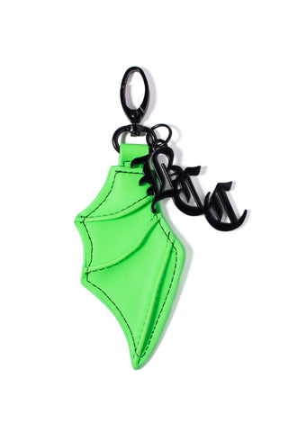Bat Wing Keychain Green