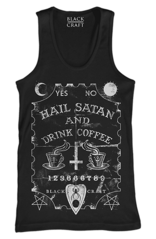 Hail Satan And Drink Coffee - Tank Top