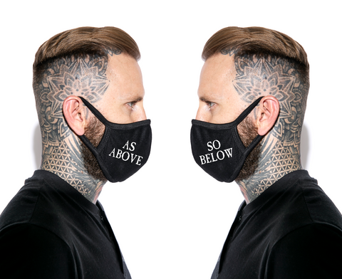 As Above So Below - Face Mask