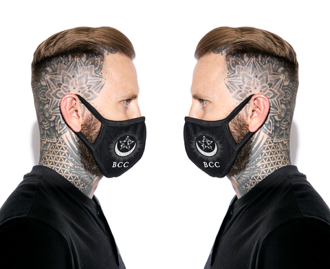 Pentagram Moon - Face Mask