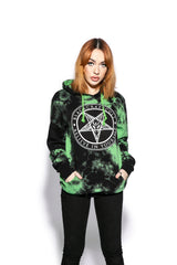 Believe In Yourself - Green Lightning Dye Hooded Pullover