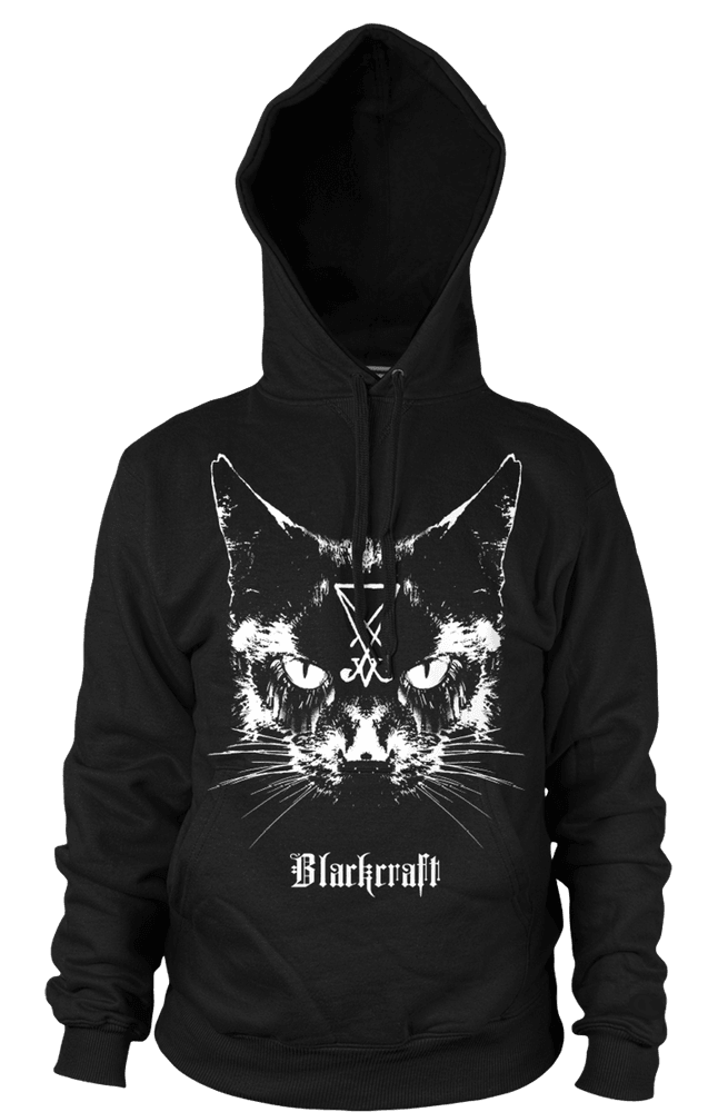 Lucifer The Cat - Hooded Pullover Sweater