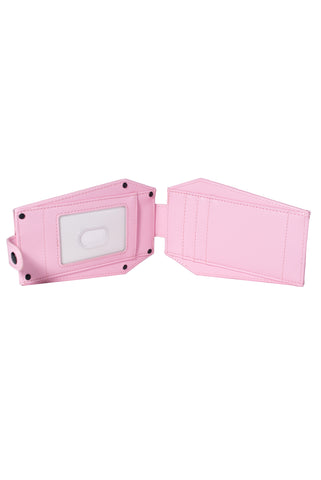 Never Trust - Pink Coffin Cardholder Wallet