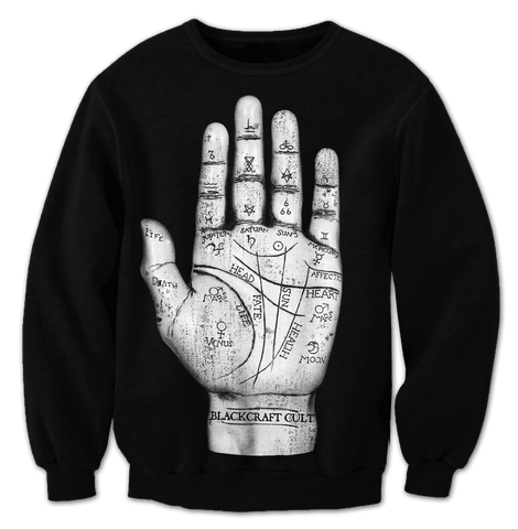 Palm Reader -Crewneck
