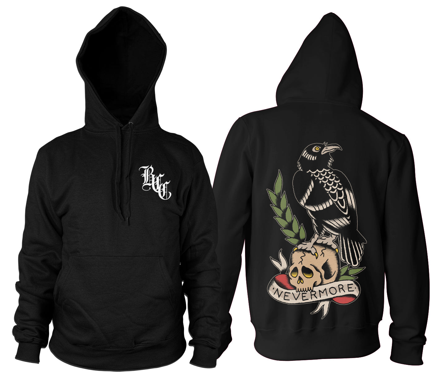 The Raven - Hooded Pullover Sweater