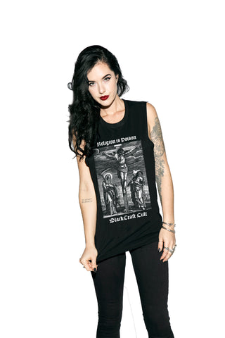 Religion Is Poison - Unisex Muscle Tee