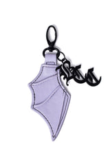 Purple Bat Wing Keychain