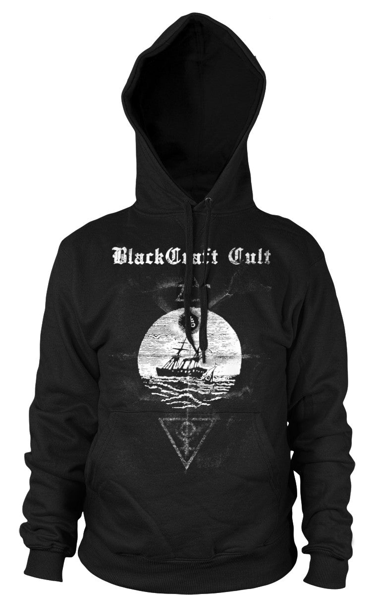 Satanic Christmas Sweater.Satanic Seas Hooded Pullover Sweater