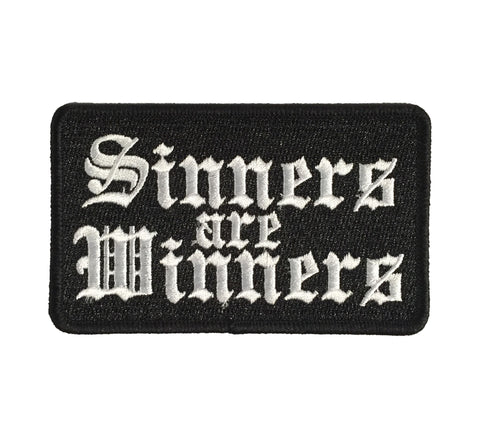 Sinners Are Winners - Embroidered Patch