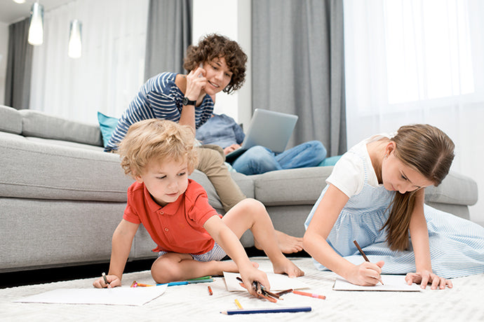 10 Ideas & Tips for Parents & Kids at Home While Social Distancing