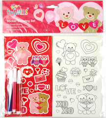 valentine's day party favors sticker sets