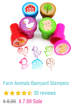 Farm Animals Barnyard Stampers - Tiny Mills