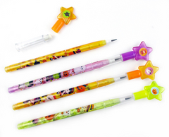 TINYMILLS 24 Pcs Halloween Multi Point Pencils