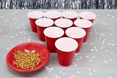 Santa Hat Stacking Cups Game