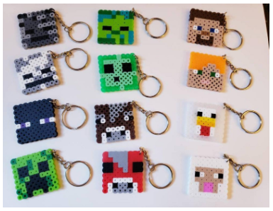 Minecraft Mob Head Keychains