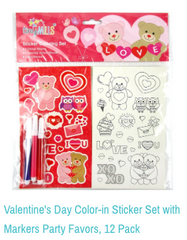 Valentine's Stickers with Markers