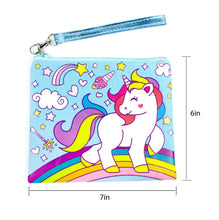 Load image into Gallery viewer, Blue Unicorn Birthday Party Gift Boxes for Kids