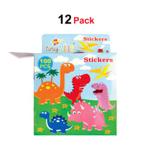 Dinosaur Stickers 100 Stickers/Dispenser, Pack of 12 Dispensers - Sticker Set | Tiny Mills®