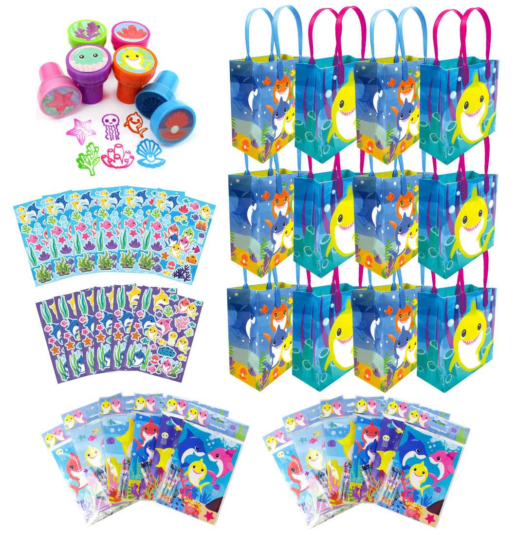 Shark Family Party Favor Bundle for 12 Kids - Party Bundle | Tiny Mills®