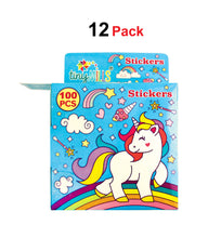 Load image into Gallery viewer, Unicorn Stickers 100 Stickers/Dispenser, Pack of 12 Dispensers