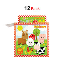 Load image into Gallery viewer, Farm Animals Barnyard Stickers 100 Stickers/Dispenser, Pack of 12 Dispensers