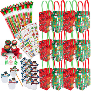Christmas Holiday Party Favor Bundle for 12 Kids - Party Bundle | Tiny Mills®