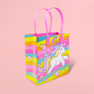 Unicorn Party Favor Bags Treat Bags - Set of 6 or 12