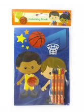 Load image into Gallery viewer, Basketball Coloring Books with Crayons Party Favors - Set of 6 or 12