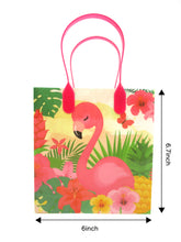 Load image into Gallery viewer, Flamingo Tropical Luau Party Favor Bags Treat Bags - Set of 6 or 12