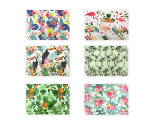 Tropical Hawaiian Florals - 36 Pack Assorted Greeting Cards for All Occasions - 6 Design