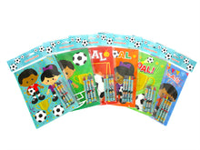 Load image into Gallery viewer, Soccer Coloring Books with Crayons Party Favors - Set of 6 or 12