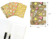 Load image into Gallery viewer, 80's Geometric Retro Journal Notebooks - Set of 6 or 12