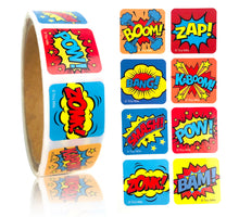 Load image into Gallery viewer, Superhero Stickers 100 Stickers/Dispenser, Pack of 1, 6 or 12 Dispensers