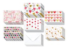 Load image into Gallery viewer, Hearts Assorted Greeting Cards for All Occasions and Valentine's Day - 6 Design