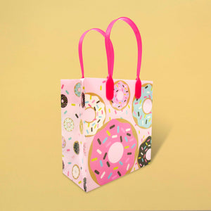 Donuts Party Favor Bags Treat Bags - Set of 6 or 12